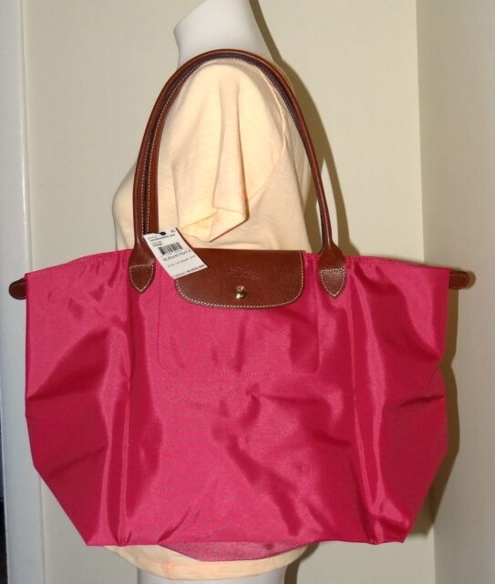 ee696df0aa7b Longchamp Le Pliage Large Shoulder Tote Bag Handbag Pink Nylon ...