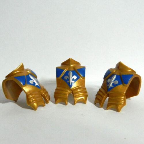 3 Pcs Playmobil Gold Floren symbol Chest Shield Armor