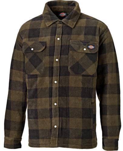Uomo Dickies Portland Workwear da Lavoro Imbottito Camicia Casual Sh5000 Khaki