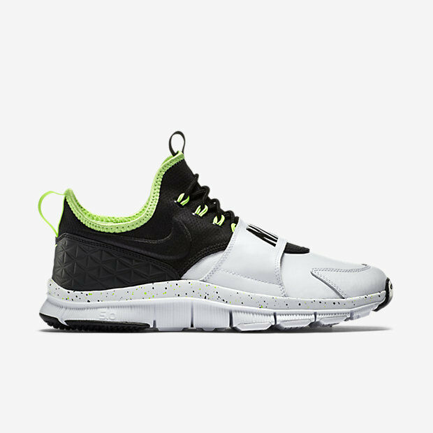 749627-100 Nike Free Ace Leather White Ghost Green Black Sizes 8-12 New In Box