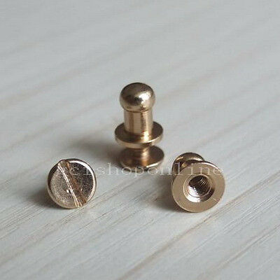"50 sets Head Button Stud Screwback Leather Screw 3/8"" 3/16"" 5mm 6mm 8mm 9mm 10mm"
