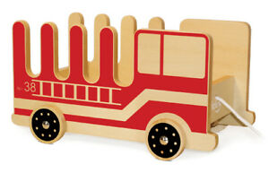 Details About New Pkolino Fire Truck Book Buggee Pull Along Wooden Cart