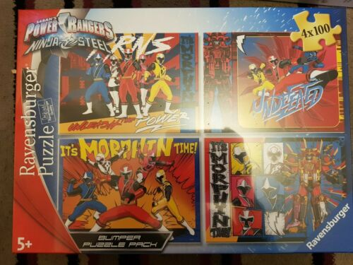 Power Rangers FACTORY SEALED NEW Ravensburger Puzzle 4 x 100 pare-chocs Pack