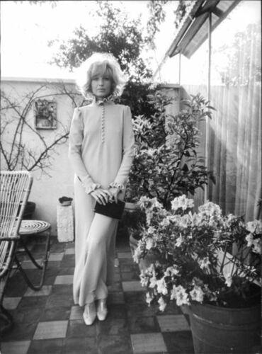 Monica Vitti posing on terrace 8x10 photo