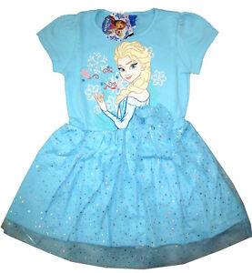 Disney FROZEN ELSA ANNA Girls vibrant dress Size 4 Age 3 yrs Free Ship