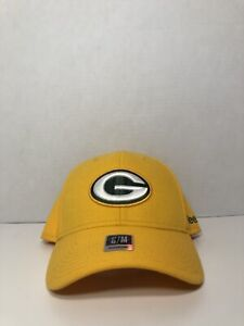 104dc71e GREEN BAY PACKERS REEBOK FLEX FIT FITTED HAT NFL SIDELINE COACHES ...