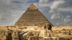 Plaque métal  pyramide de Gizeh   30 X 20 CM
