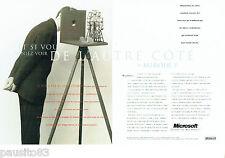 PUBLICITE ADVERTISING 096  1994  Microsoft   les micro- ordinateurs (2p)