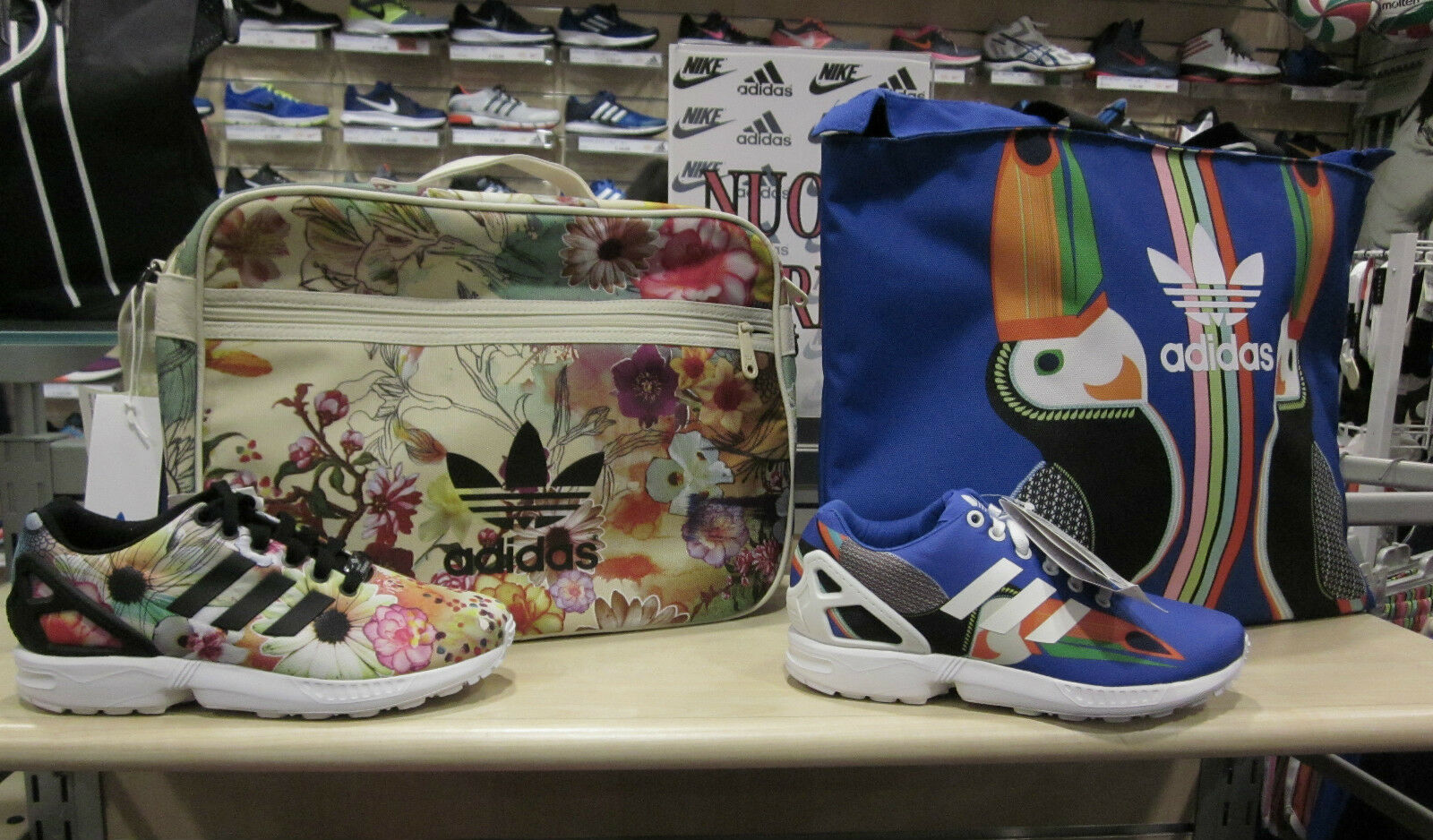 Adidas Donna Set ZX Flux S75697 S78976 + Borsa Blu Bianco