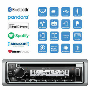 Kenwood-KMR-D375BT-Marine-Boat-CD-WMA-MP3-Player-Bluetooth-Pandora-iHeart-Radio