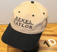 2000 REXEL TAYLOR INVITATIONAL GOLF TOURNAMENT HAT TAB/BLACK ADJUSTABLE VGC