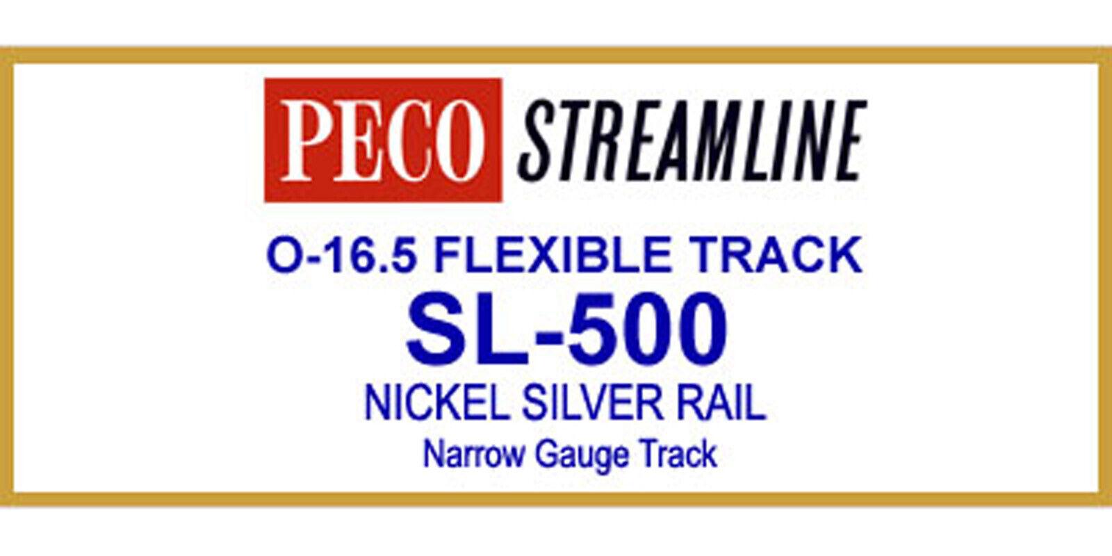 tienda en linea Peco On30 On30 On30 código de plata de níquel 100 36  pista Flex (12PC BOX) SL500 modelo del ferroCocheril  nueva gama alta exclusiva