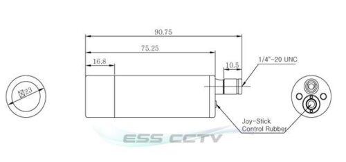 KT/&C EJ230NUWX Bullet SECURITY CAMERA 750 TVL 2D-DNR D-WDR ATR 2.97mm WIDE lens