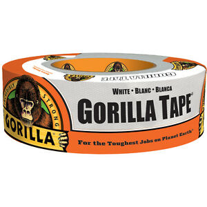 """Gorilla 6010002 Incredibly Strong Extra-Sticky Duct Tape, White, 2"""" x 10 Yd"""