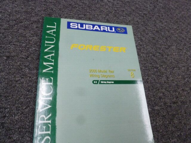 2000 Subaru Forester Electrical Wiring Diagrams Manual L S