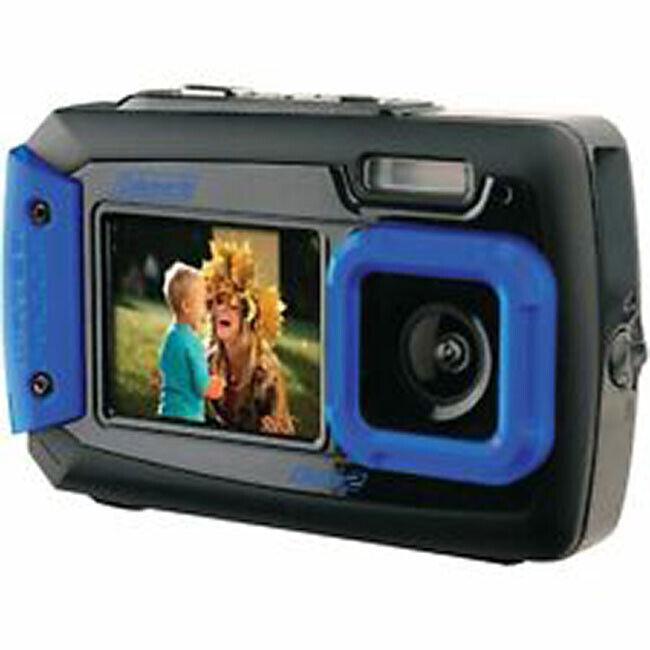 Coleman 2V9WP-BL 20 Megapixel Duo LCD Dual-Screen Waterproof Digital Camera