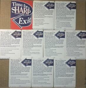 Harp Lager UK Set Of Sharp Exit Beermats Coasters Bierdeckel Sousbock