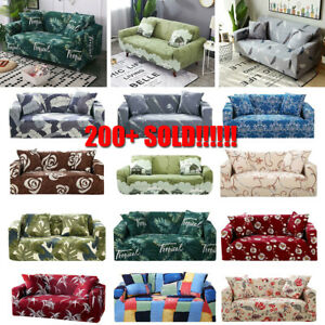 Stretch Couch Sofa Cover Lounge Recliner Chair Slipcover Elastic 1 2 3 4 Seaters
