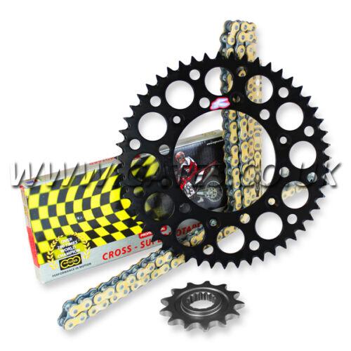 KTM SXF250 2005-2016 Regina ORN-6 O/'Ring Chain And Black Renthal Sprocket Kit