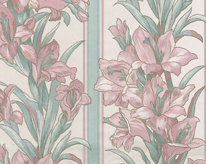 Image Is Loading Elegant Fabric Double Rolls Sheen Flower Stripe Pink