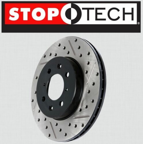 Stoptech SportStop Drilled Slotted Brake Rotors STR40059 LEFT /& RIGHT REAR