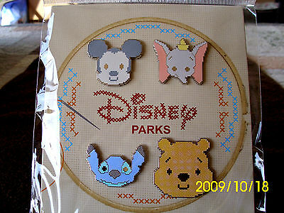 NEW in PACK Disney MICKEY DUMBO POOH STITCH Pixelated 4 pin BOOSTER Set