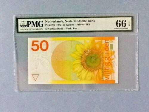 Netherlands P-96-50 Gulden; 1982; PMG Graded 66 EPQ