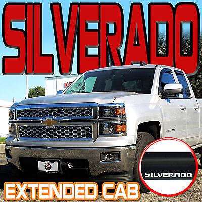 2017 Silverado 3500 Side Window Weather Deflectors, Double ... |White Silverado Window Deflectors