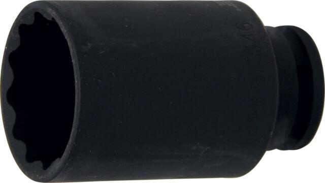 """Douille longue 12 pans 1/2"""" métrique 46mm clé à choc impact qualité pro 46"""