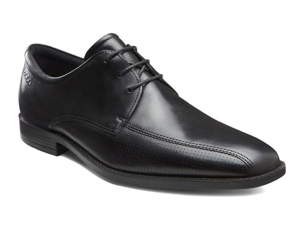 Men's 632534 Edinburgh Perf Bike Toe Black Leather Tie Oxford Size 40-NIB