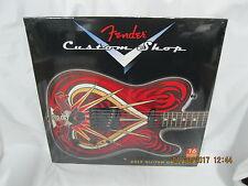 16 month fender customshop 2017 guitar calendar custom shop fender calendar