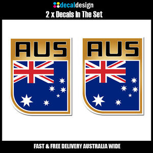 Australia-AUS-Flag-Shield-Decal-UV-resistant-amp-water-proof-for-car-4wd-boat