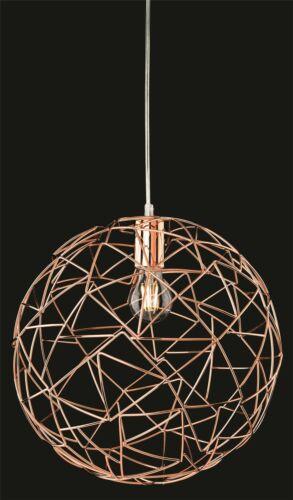 Spherical Ceiling Pendant Copper Firstlight Praga 7638CP