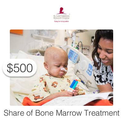 $500 Charitable Donation For: Share of Bone Marrow Treatment