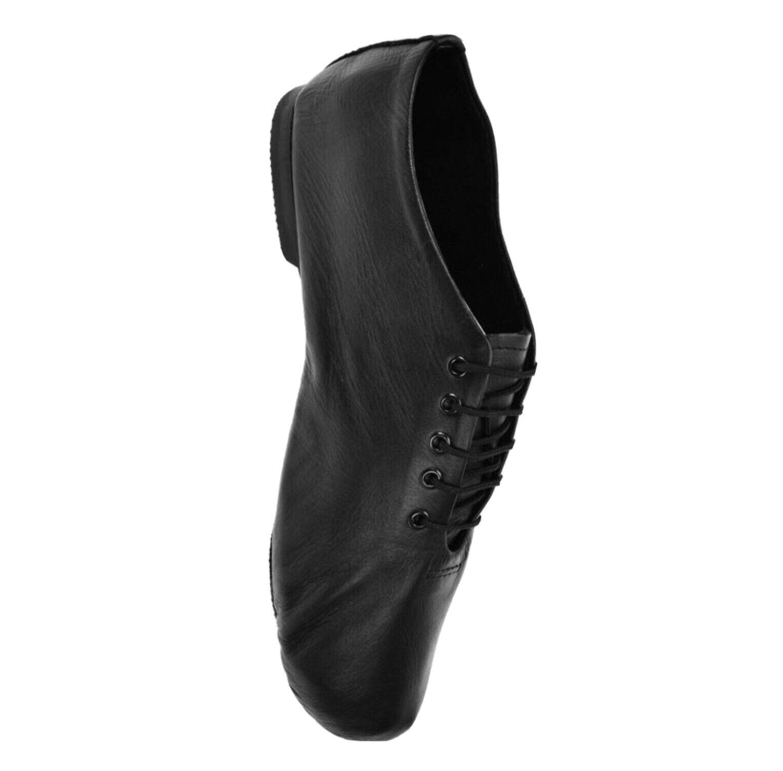 Starlite EFFECT Black Leather Split Sole Jazz Shoes. Size 10