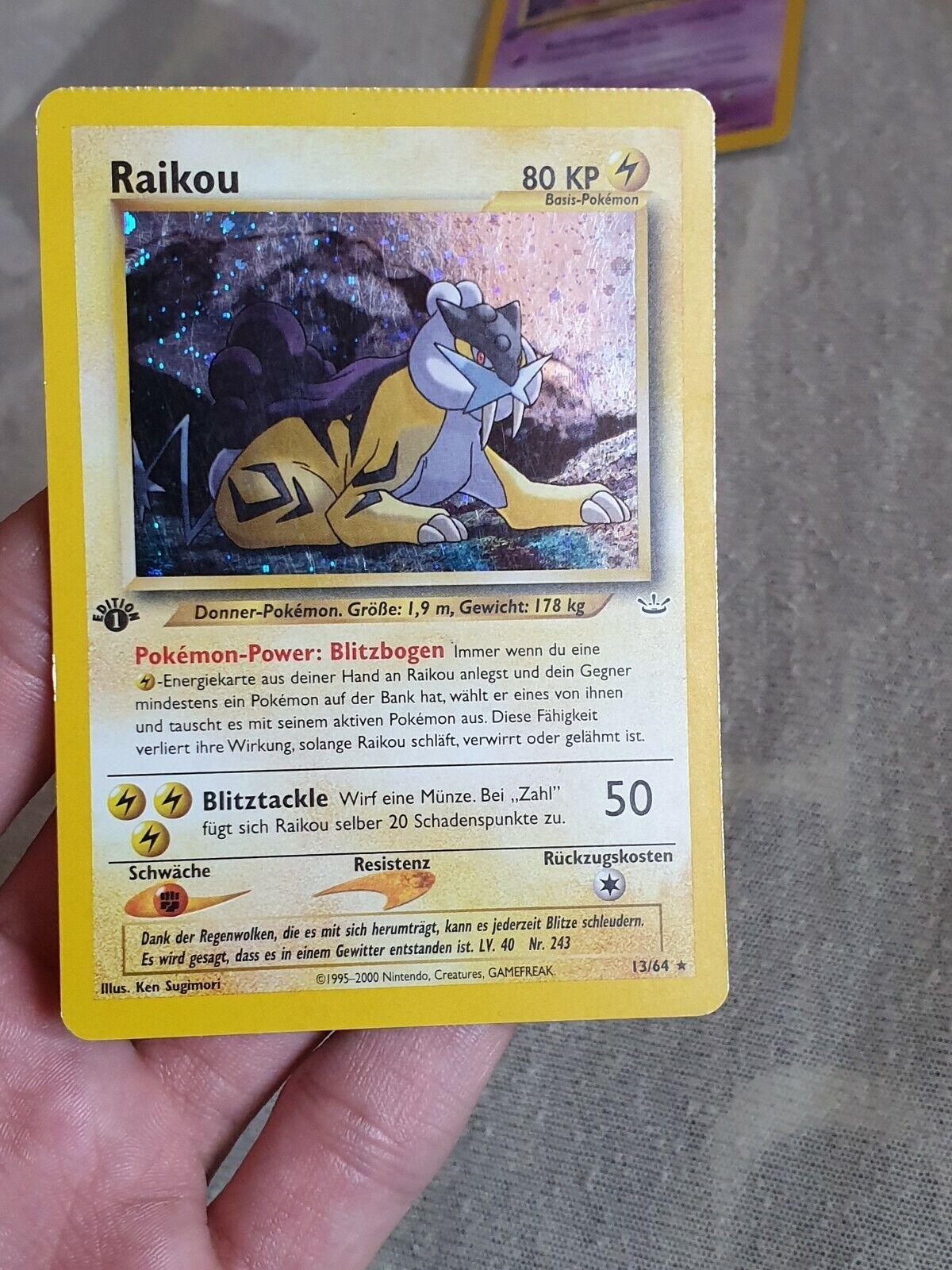 1. Edition Raikou Raikou Raikou Holo Neo Revelation Deutsch,  Pokemon Karte, ultra selten  353206