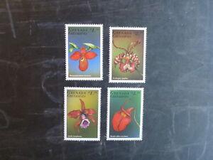 1998-GRENADA-GRENADINES-ORCHIDS-SET-4-MINT-STAMPS-MNH