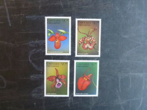 1998 GRENADA GRENADINES ORCHIDS SET 4 MINT STAMPS MNH