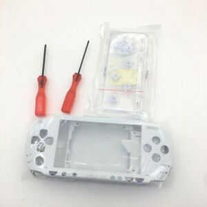 White-Replacement-Full-Shell-Housing-Buttons-screwdriver-Kit-For-Sony-PSP-1000