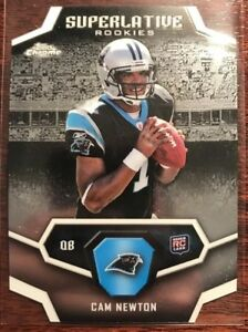 Details About 2011 Topps Chrome Superlative Rookies Cam Newton Rookie Card Die Cut Panthers