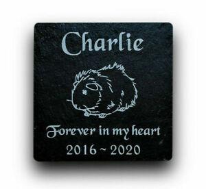Personalised-Engraved-Slate-Stone-Pet-Memorial-Grave-Marker-Plaque-Guinea-Pig