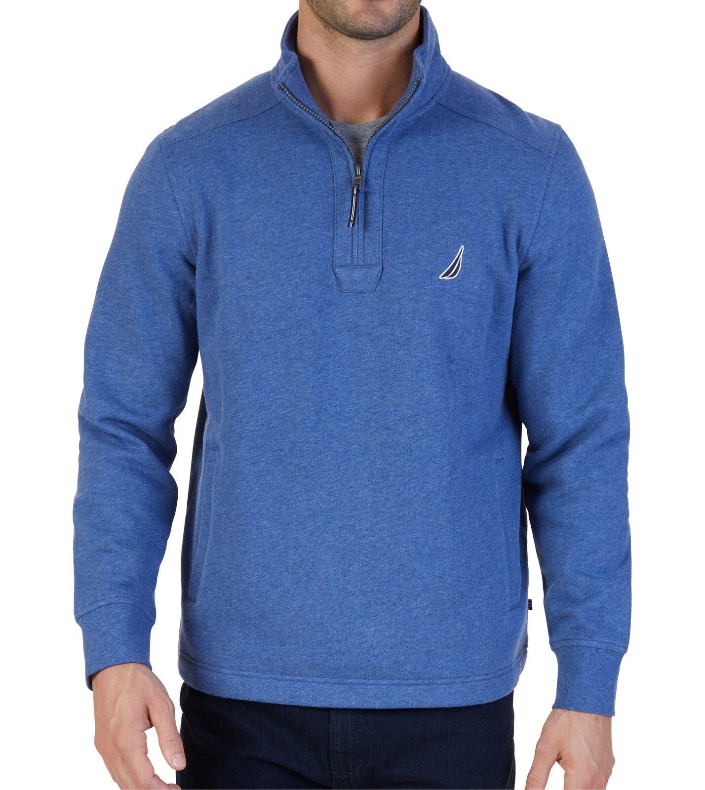 Nautica 1/4 Zip Sueded Fleece Pullover