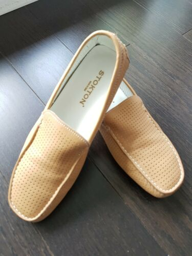 Stokton Leather Driving Shoes Loafers Size 36/US 6