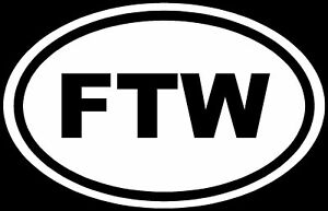 FTW-Sticker-For-The-Win-Racing-Vinyl-Decal-Car-JDM-Euro