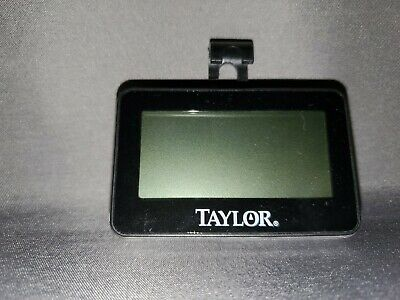 """Taylor Precision Products Digital Fridge and Freezer Thermometer Oversized 2/"""" LCD Display Grey"""