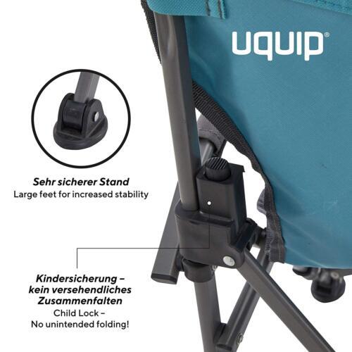 Uquip-Kirby niños silla de camping silla klemmschutz hasta 60 kg como nuevo