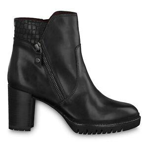 Details zu Tamaris 1 1 25348 23 001 Schuhe Damen Leder Anti Slide Stiefeletten schwarz