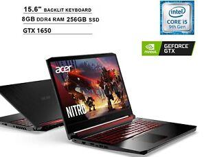 🔥2021 Acer Nitro 5 15.6 FHD Intel i5-9300H/8G/256G GTX1650 Gaming Laptop+Sleeve