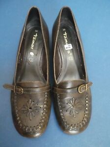 5inch Good 38 In 1 Size Shoes Brown Condition Fairly 5 Tamaris Heel wYpUvxq