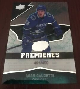 2018-19-Ice-Premieres-Rookie-Adam-Gaudette-499-Canucks
